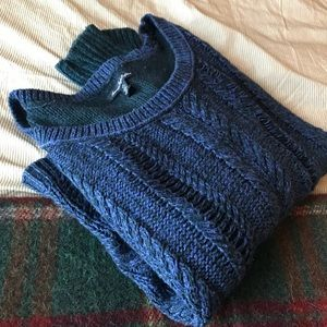 Chunk blue knit sweater